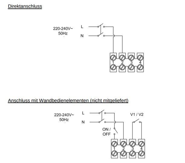 Südwind Ambientika solo+ - Schaltplan