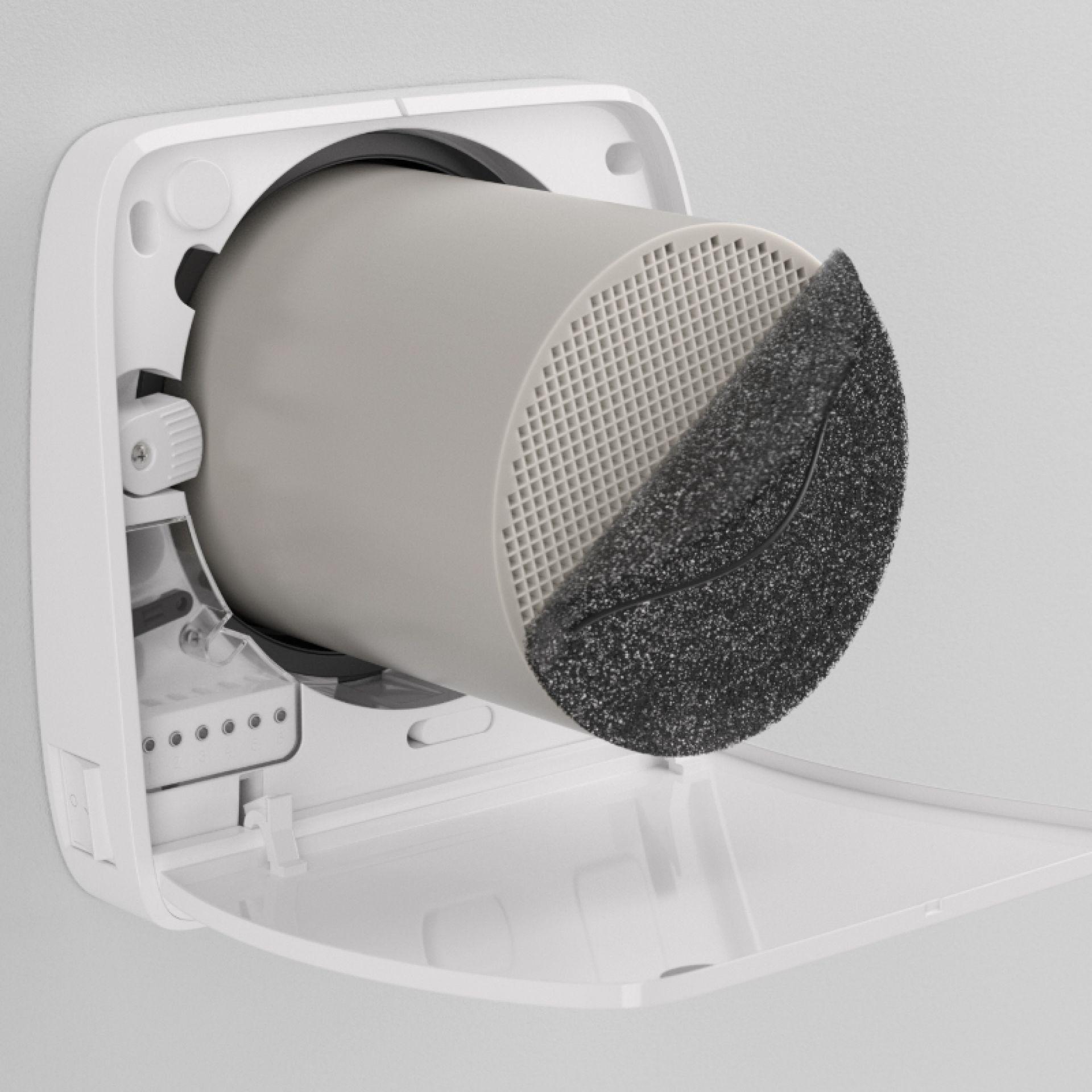 Ambientika wireless + von Südwind dezentrale Wohnraumlüftung mit Wärmerückgewinnung