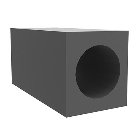Kermi x-well Einbau-Montagestein zur Einmauerung der Mont.-Rohre 500 mm