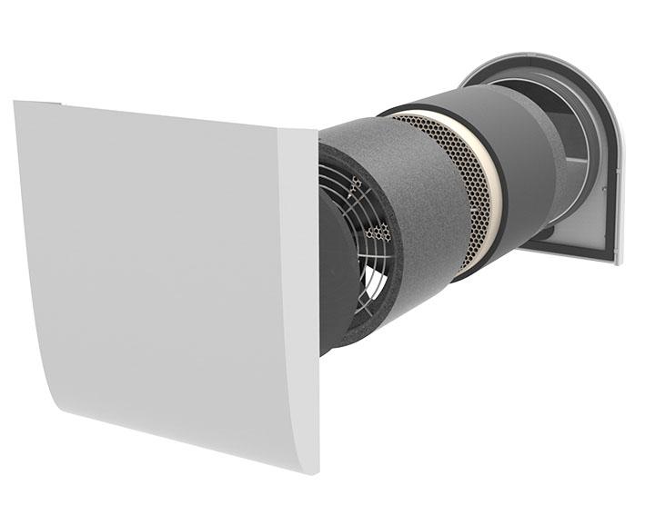 Pluggit iconVent 160 – Basis Komplettset mit Außen- und Innenblende Kunststoff