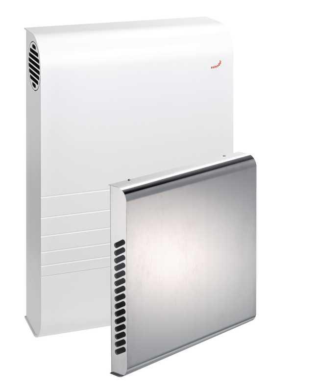 Zehnder Komfort-Lüftungsgerät ComfoAir 70 mit Außenwandhaube aus Edelstahl