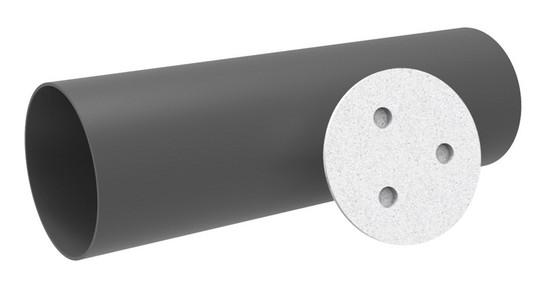 Kermi x-well D12 Rohbauset Einschubrohr 500 mm, 2 Putzdeckel
