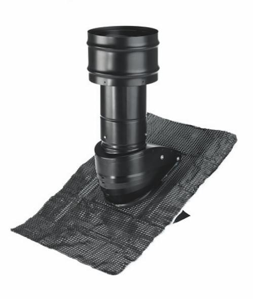 Zehnder Dachhaube Steildach 125, kpl., schwarz, 6° - 60° Grad