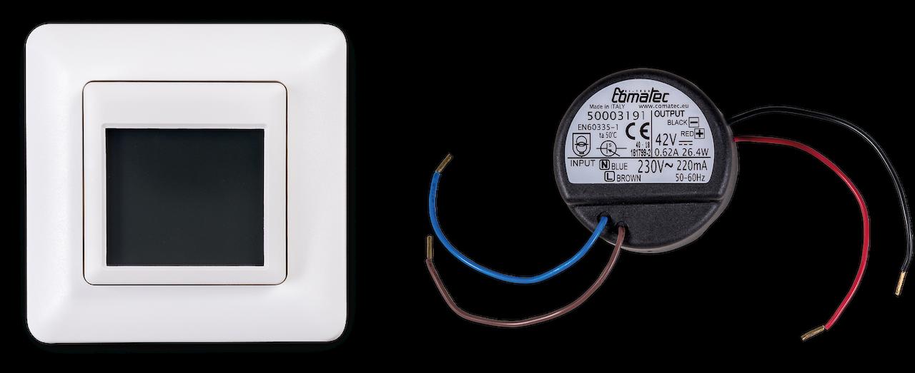 Pluggit Touch Steuerung für iconVent 170 mit Touch-Display für bis zu 6 Lüfter inklusive Netzteil