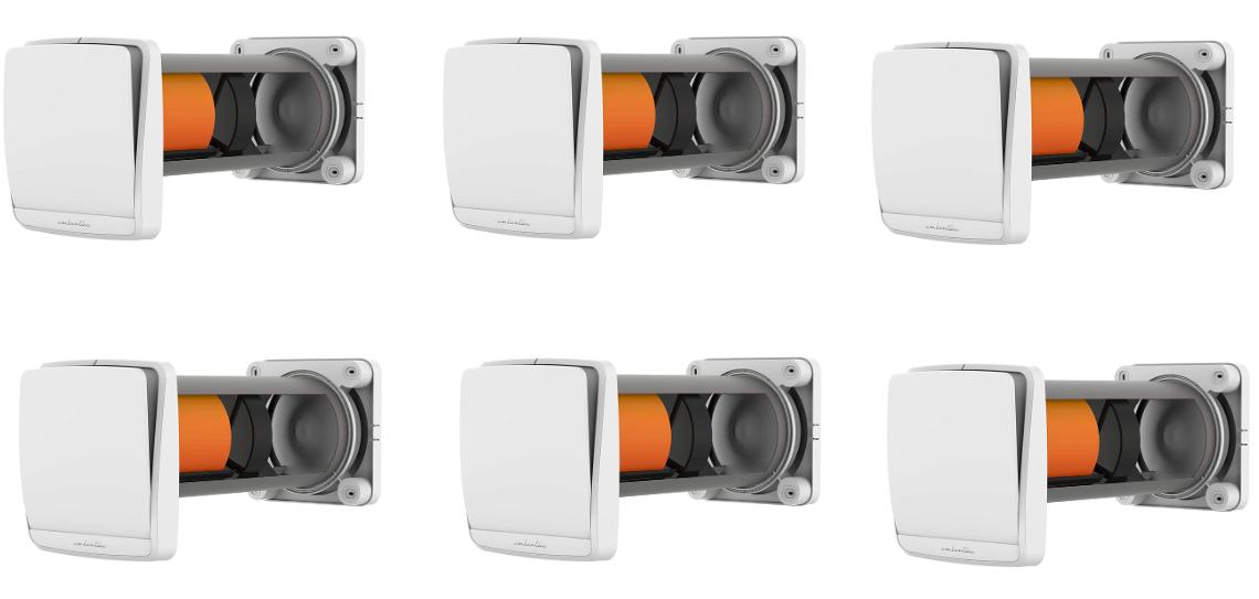 Lüftungsset mit 6 Ambientika wireless + von Südwind dezentrale Wohnraumlüftung mit Wärmerückgewinnung
