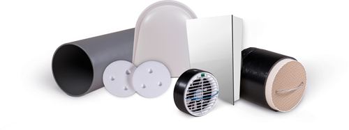 Pluggit iconVent 170 – Basis Komplettset mit Design-Innenblende Kunststoff