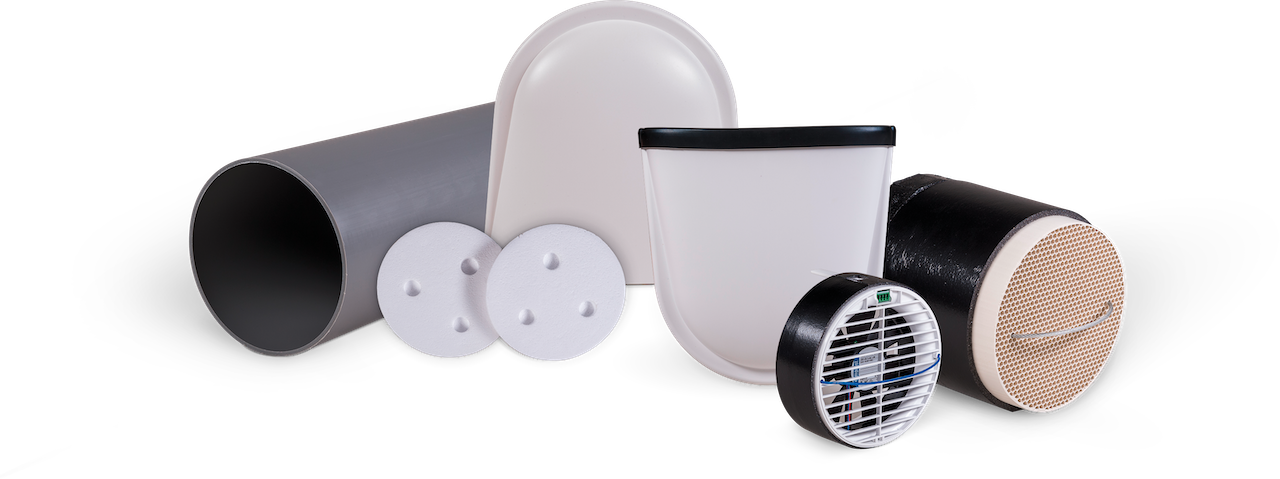 Pluggit iconVent 170 – Basis Komplettset mit Außen- und Innenblende Kunststoff