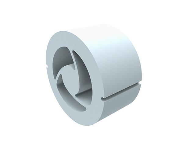 Kermi Schalldämpfset, D=160 mm, L=80 mm Melaminharzschaumring zur Schalldämpfung