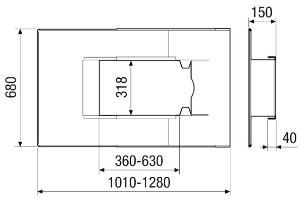 Dacheindeckrahmen PP 45 DER 25-35 von Maico