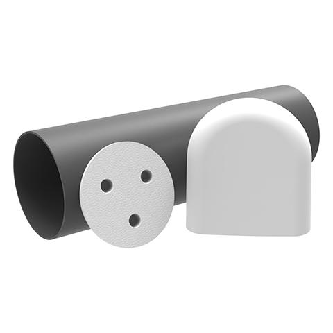 Kermi x-well D11 Rohbauset Einschubrohr 500 mm, 2 Putzdeckel